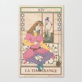 Tarot Card-The Temperance Canvas Print