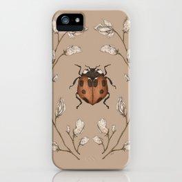 The Ladybug and Sweet Pea iPhone Case