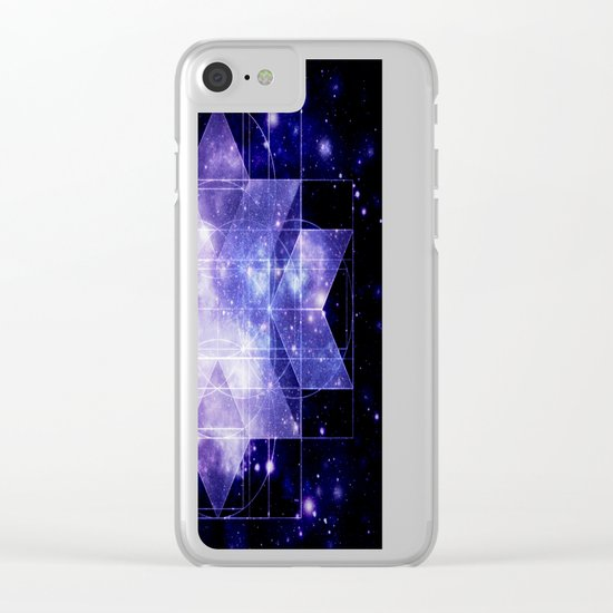 galaxy sacred Geometry Clear iPhone Case