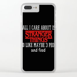 ALL I CARE ABOUT IS STRANGER THING VINTAGE Clear iPhone Case