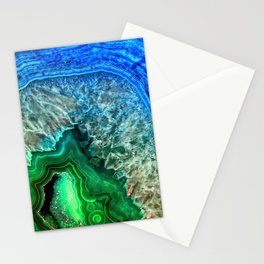 Turquoise Green Agate Mineral Gemstone Stationery Cards
