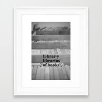 library Framed Art Prints featuring Library by KimberosePhotography