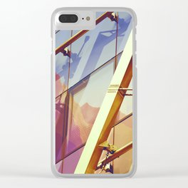 Facade in front of the mountains 2 Clear iPhone Case
