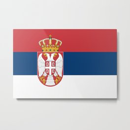 Flag of Sebia Metal Print