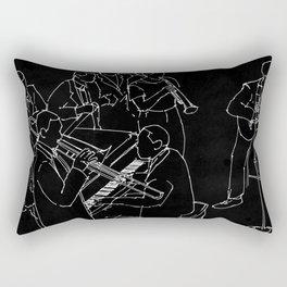 Duke Ellington jazz band Rectangular Pillow