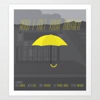 how i met your mother Art Prints featuring How I Met Your Mother poster by noahmooney