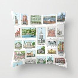 Oakland Landmarks Throw Pillow