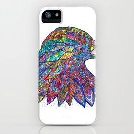 Fierce Eagle Mandala iPhone Case