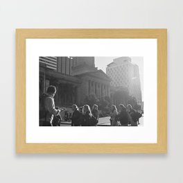 Have you seen the light? Framed Art Print