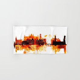 Bruges Belgium Red Yellow Skyline Hand & Bath Towel