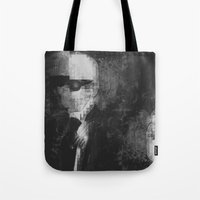 karl lagerfeld Tote Bags featuring Karl Lagerfeld Star Futurism Limited by Futurism_