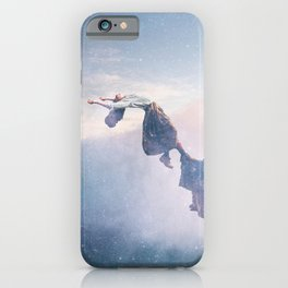 Falling Stars Surreal Levitation Off an Australian Cliff-Stars and a Levatating Woman iPhone Case