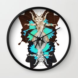 Femme Fatale Dancing - Butterfly Goddess Wall Clock
