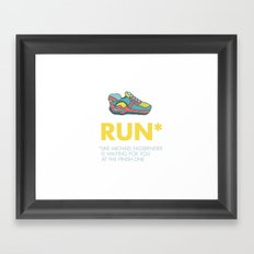 Funny quotes Framed Art Print
