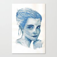 emma watson Canvas Prints featuring Emma Watson  by Daniel D'Souza