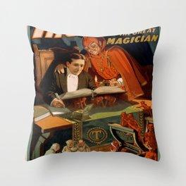 Vintage poster - Thurston the Magician Throw Pillow