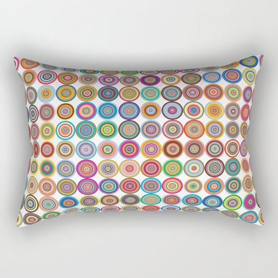 Circle color green rose Rectangular Pillow