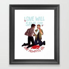 Love Will Save Us Framed Art Print