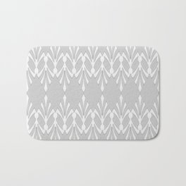 Art Deco Delicate Grey & White Pattern Bath Mat