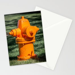 Orange Waterous Pacer WB67-250 High Pressure Fire Hydrant Fire Plug  Stationery Cards