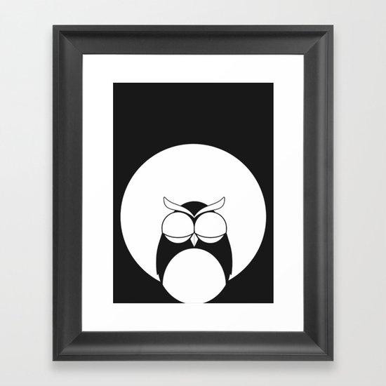 Sleepy owl Framed Art Print
