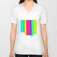 the strokes V-neck T-shirts featuring Brush Strokes by Ulrika Bygge