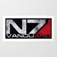 n7 Art Prints featuring N7 Vanguard by Draygin82