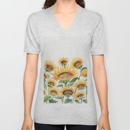 Sunflowers Love Unisex V-Neck