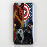 winter soldier iPhone & iPod Skins featuring Winter Soldier by Evan Tapper
