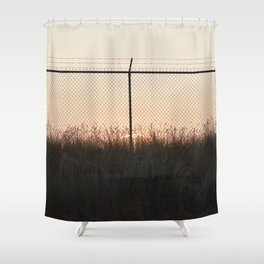 Sunset Behind Fences Shower Curtain