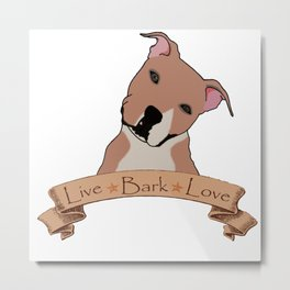Love is a pit bull no.7 Metal Print