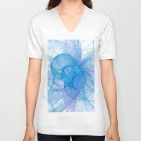 circles V-neck T-shirts featuring Circles by Ann Garrett