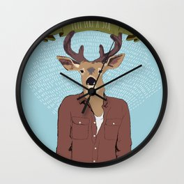 Feel like a sir Wall Clock