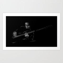 Jaco Pastorius - Jazz Bassist Art Print