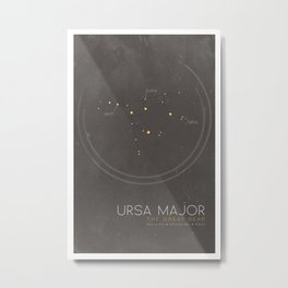 Ursa Major - The Great Bear Constellation Metal Print