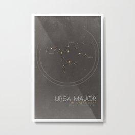 Ursa Major - The Great Bear Constellation Metal Print