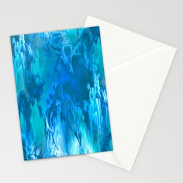 Marshmellow Skies (sapphire-turquoise-sky blue) Stationery Cards