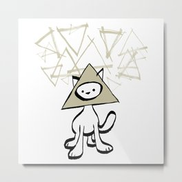 minima - pyramid cat Metal Print