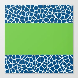 staklo (dark blue with green stripe) Canvas Print