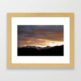 Sunset on Trail Ridge 3 Framed Art Print