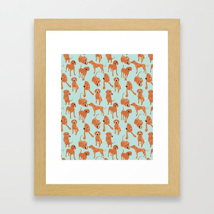 Redbone  Coonhound Pattern Framed Art Print