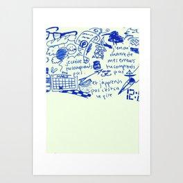 24-03-16 Diary Doodle Art Print