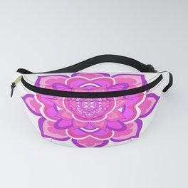 Pink Floral Mandala Fanny Pack