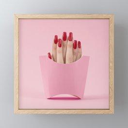 Finger fries Framed Mini Art Print