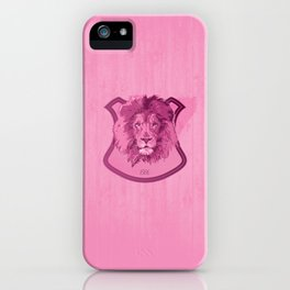 Hunting Series - The Pink Lion Head  iPhone Case