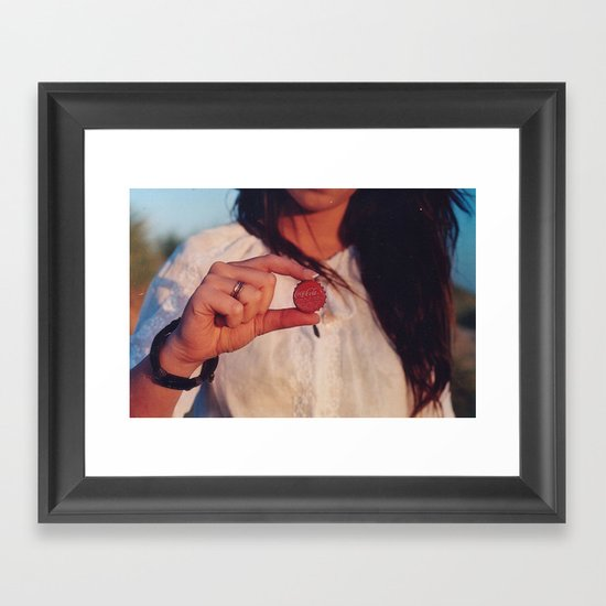 bottle top Framed Art Print