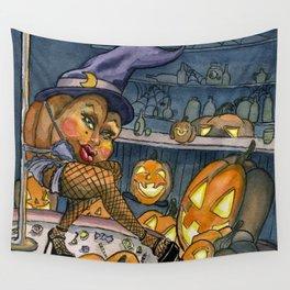 Pumpkin Stripper Wall Tapestry