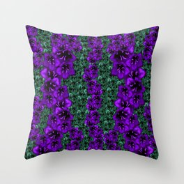 life in jungle so beautiful filled of ornate flowers Throw Pillow