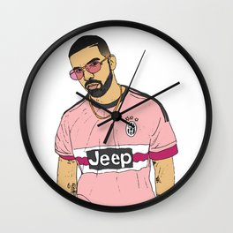 Drake Juventus Jersey Wall Clock