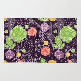 Vegetable Pattern Scandinavian Design Rug